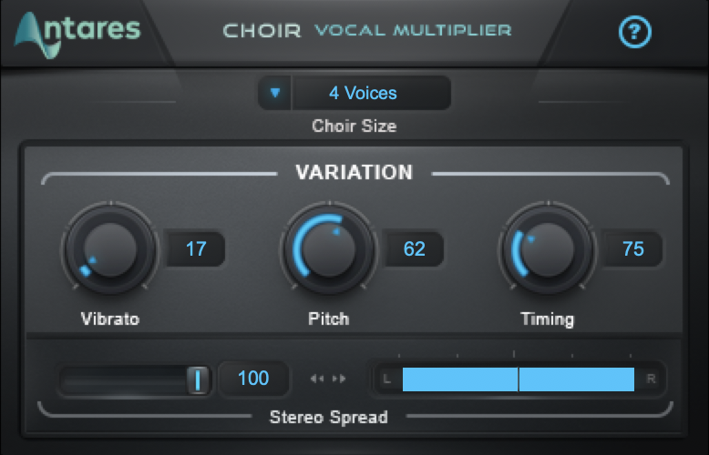 Image of a Choir plug-in GUI showing a hand clap sample